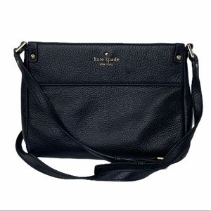 Kate Spade Black Leather Crossbody Purse